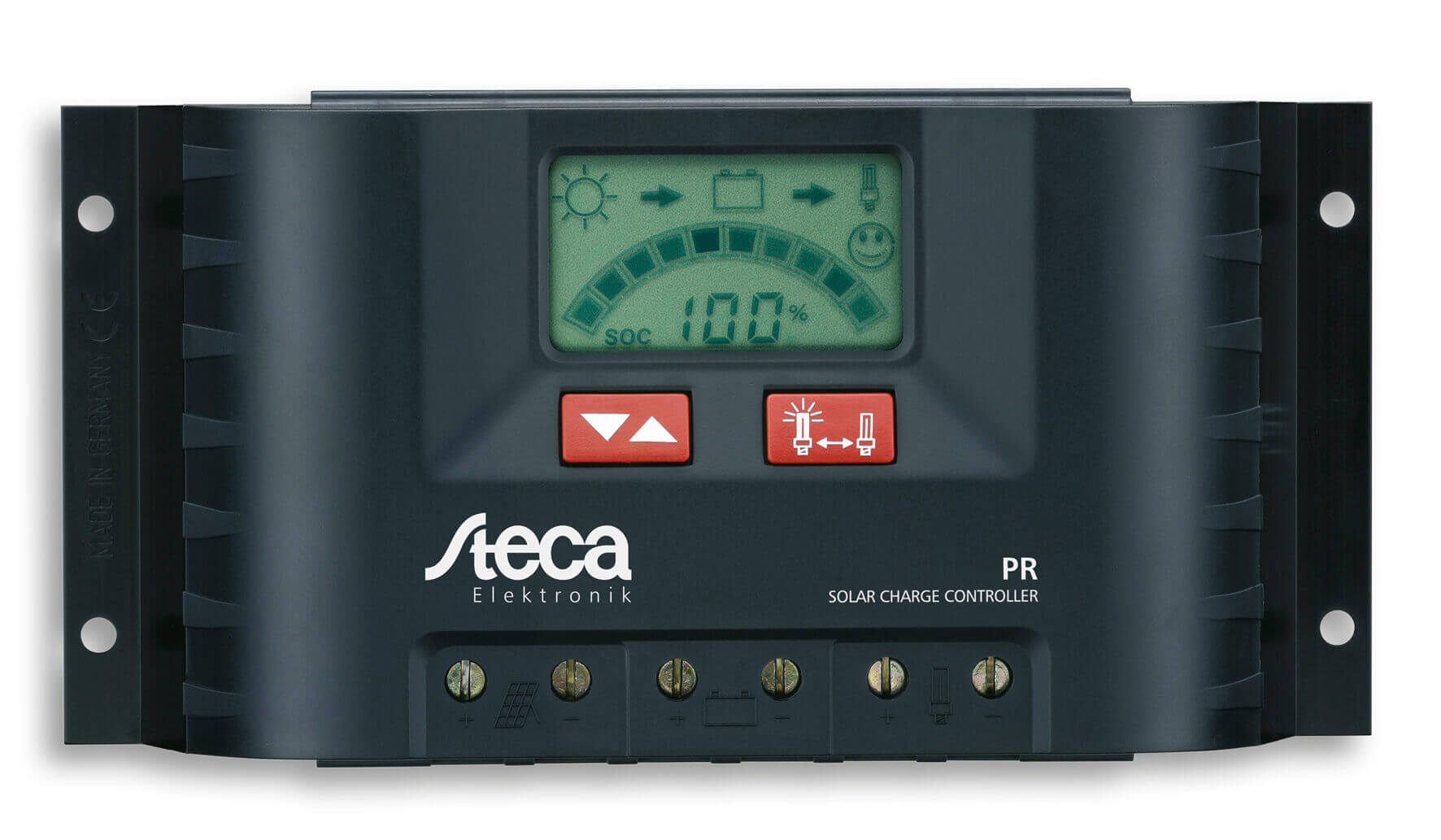 Regulador de carga STECA PR 12 24v www.suenergiasolar.com