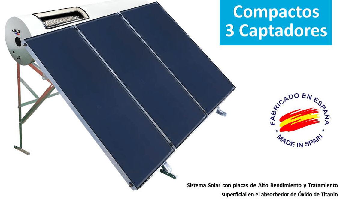 kit Su energía Solar termosifon 3 captadores GEA 450 litros