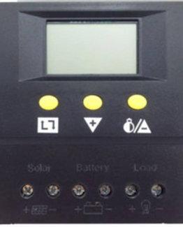 Regulador de carga solar con pantalla